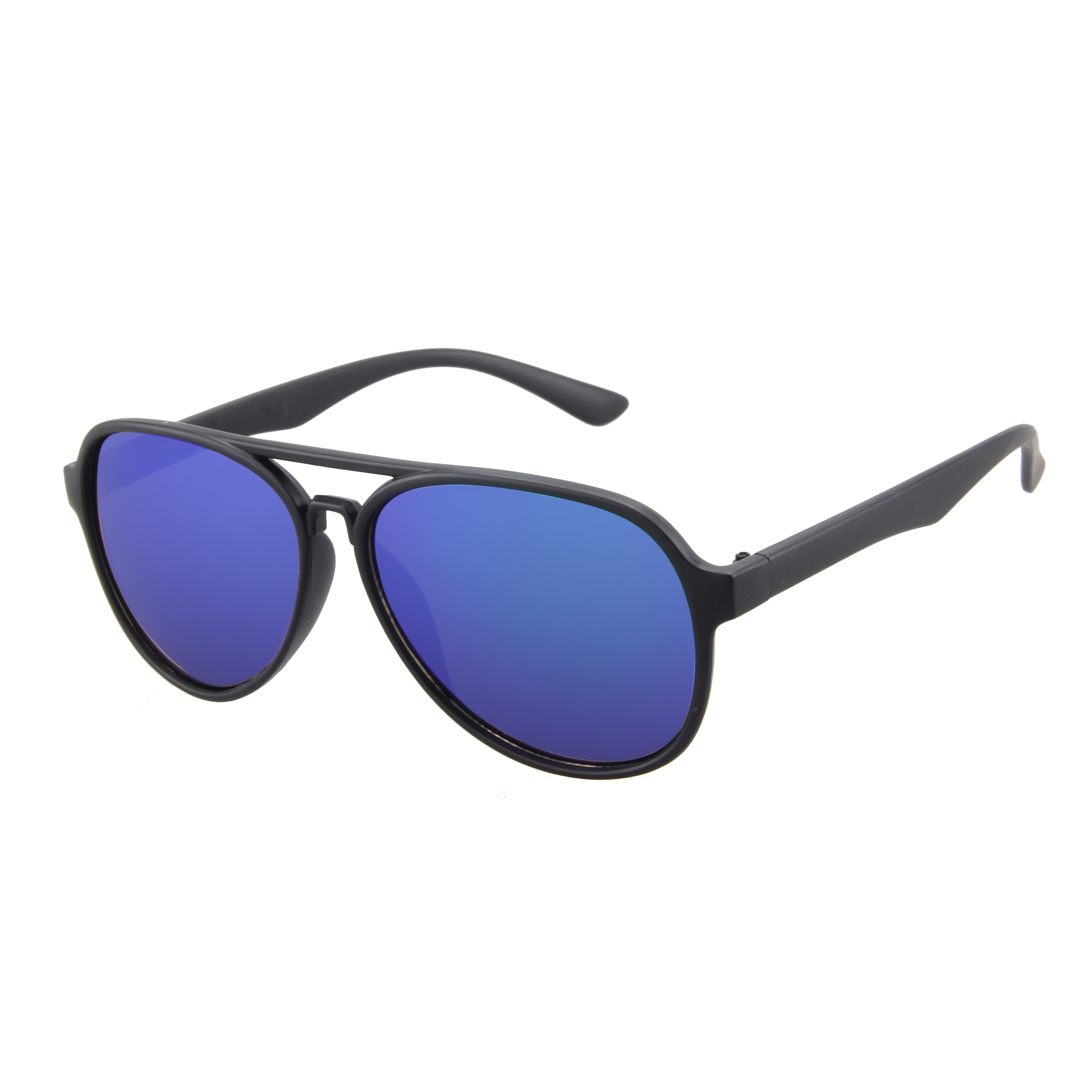 Aviator Slim Matt Black 400UV  Blue Revo
