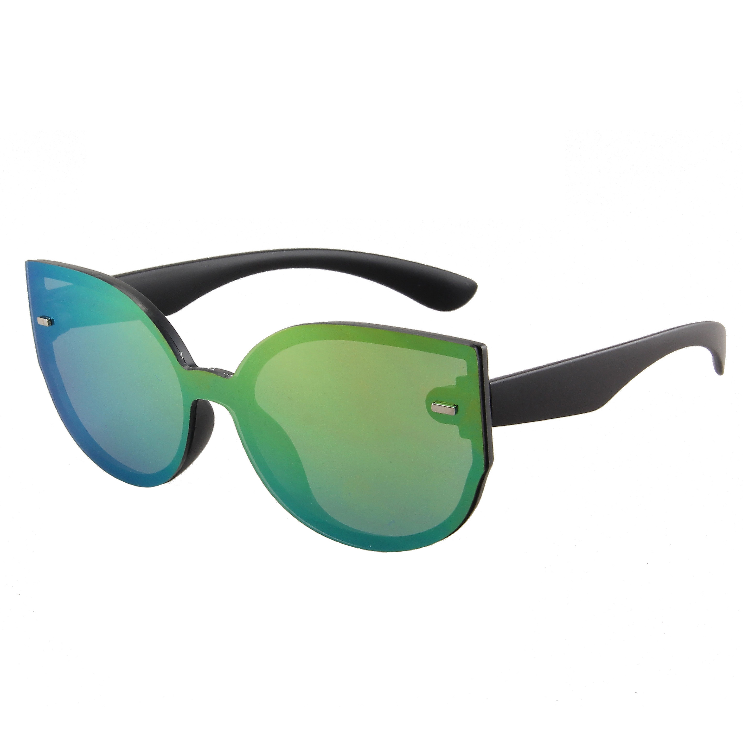 Fashion Revo Shield Matt Black 400 UV Green Revo