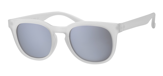 Wayfarer Retro Rubber Touch Clear 400UV Smoke Solid
