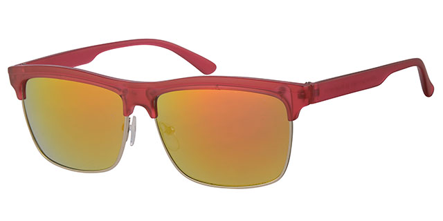 Clubmaster Matt Transparant Red 400UV Red Revo
