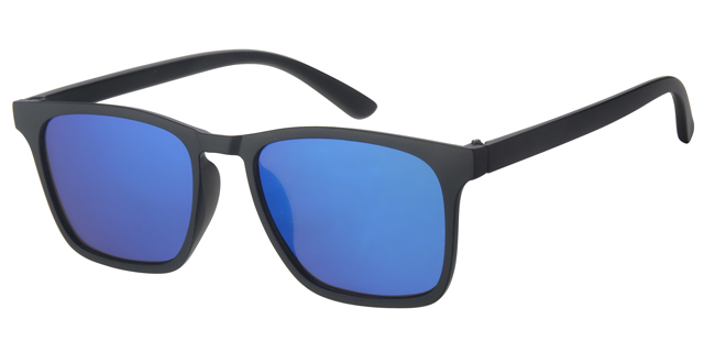 Wayfarer Luxe Matt Black 400UV Ice Blue Revo