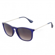 Wayfarer Slim Steel Blue UV400 Smoke Gradient