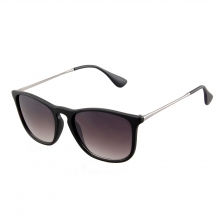 Wayfarer Slim Steel Matt Black UV400 Smoke Gradient
