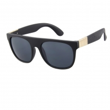 Wayfarer Black Matt Gold Deco 100% UV Smoke Solid