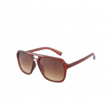 Aviator Modern Transparant Brown Silver Deco 100% UV Brown Gradient
