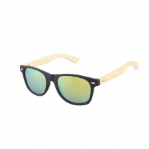 Wayfarer Black Matt Wood 400UV Green Revo