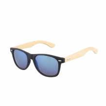 Wayfarer Black Matt Wood 400UV Blue Revo