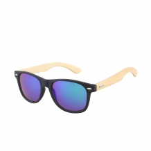 Wayfarer Black Matt Wood 400UV Purple Revo