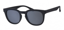 Wayfarer Retro Rubber Touch Black 400UV Smoke Solid