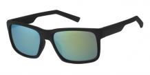 Wayfarer Rubber Touch Black 400UV Gold Revo