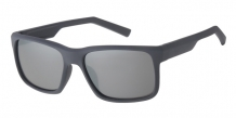 Wayfarer Rubber Touch Grey 400UV Silver Mirror