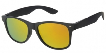 Wayfarer Matt Black Silver Deco 400UV Red Revo