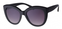 Fashion Cateye Black 400UV Smoke Gradient