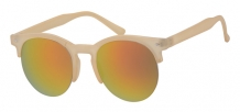 Fashion Clubmaster Matt Nude Silver Deco 400UV Red Revo