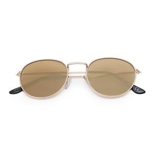 Trendy ronde zonnebril bruin